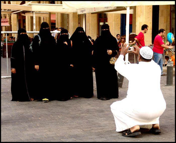 Why take pictures of covered muslim women?